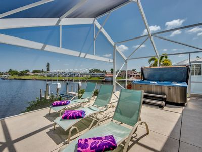 Photo for Spa, Kayaks, Great Location with Heated Pool - Villa Belle Vie, Cape Coral, FL