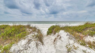 Photo for SUNSET DREAMS *** 4BD/2BA - Direct Gulf Front Beach House w/ Private Beach Access - FREE WIFI