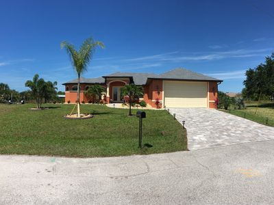 Photo for Brand new 2019, Sunset Paradise, sleeps 6, private heated pool and spa,Gulf access, Florida