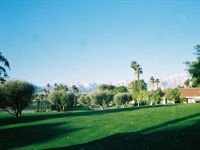 Photo for 1 BR Tennis Villa, San Jacinto Mtn Views from all 3 Patios/Steps to Pool/SPA