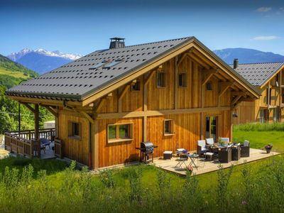 Photo for Stylish Valmorel chalet for 10 - sauna and sunny terraces - OVO Network
