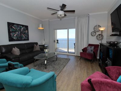 Photo for Tidewater 1205 Penthouse-Beach Front View From Terrace w/ Luxurious Interior!