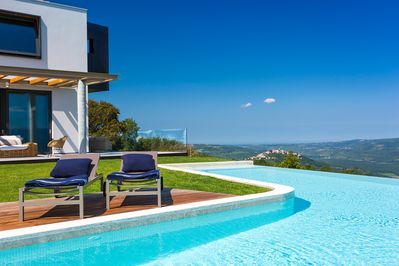 infinity pool with the most amazing view of Motovun