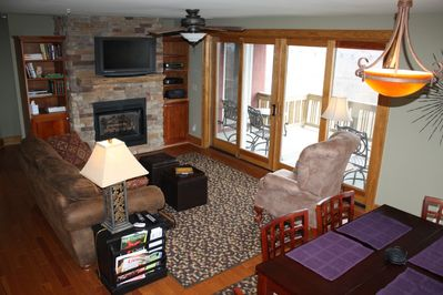 Family Room - gas fireplace, Lay-Z-Boy, big screen