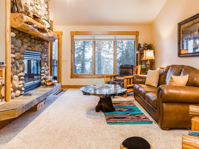 Photo for Secluded condo w/ wood-burning fireplace, large deck, & mountain views!