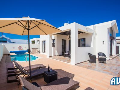 Photo for Private heated pool, Wi-Fi, Air Con, situated in a quiet residential area