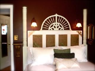 Queen Bed provides pillows & blankets. Bring your own linens IF waning to save$