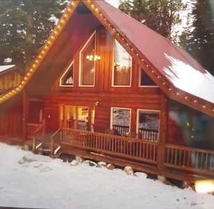 Photo for Log Cabin with Secluded Hot Tub Near Lake and Downtown