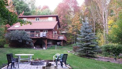 Photo for Catskill Mountain Getaway - minutes to Hunter and Windham Mtns., jucuzzi, fire p