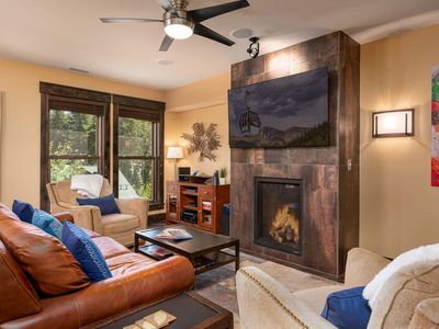 Photo for NEW DECOR !   Modern Rustic Loft   Overlooks Village & Base Area   Only Steps to Gondola