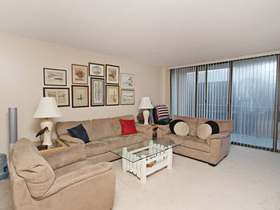 Photo for Lovely 2 Bedroom 2 Bath Ocean Front Condo 2nd Floor Great Access Sleeps 6