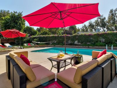 Photo for Upscale house with private pool & furnished patio - 1 block to Zuma Beach!