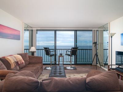 Photo for ON THE BEACH **LUXURY CONDO Floor to Ceiling Ocean View FREE PARKING & WI FI