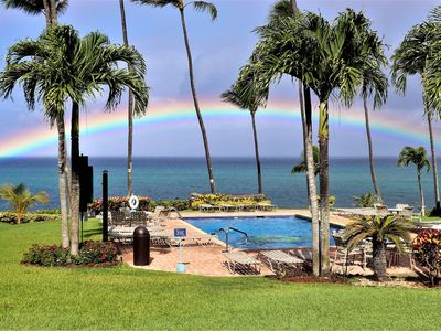 Photo for Mahina Surf Oceanfront Condo with a great view