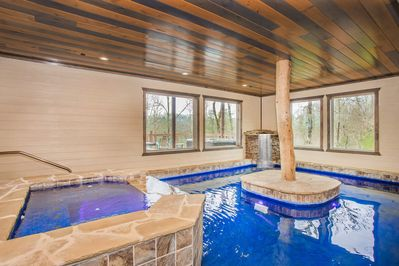 Lazy River Lodge Indoor Pool W Lazy River Home Theater Top Amenities Brand New Build Hot Tub Pigeon Forge
