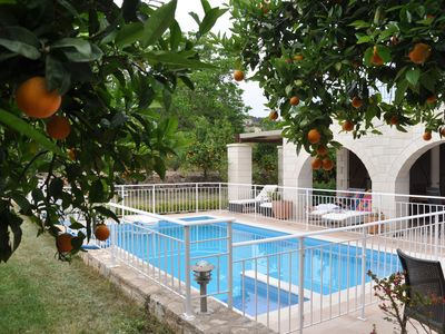 Photo for Tranquil and private 3 bedroom villa in unspoilt village in Crete.