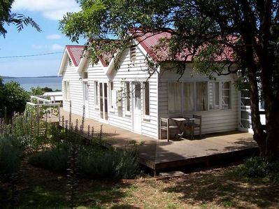 Captain Lock's Cottage overlooking Westernport Bay.