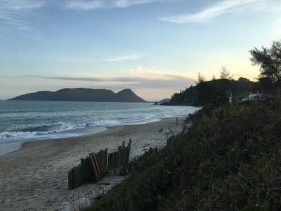 Photo for Coverage in Morro das Pedras with c view to the sea and the island of Campeche