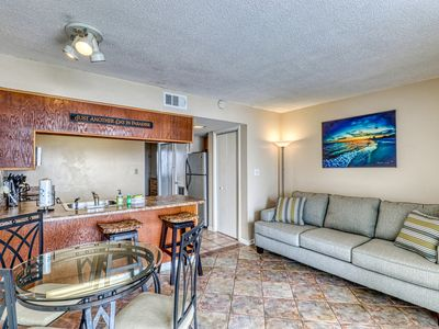 Photo for Waterfront condo w/ shared pool & hot tub - across road from beach