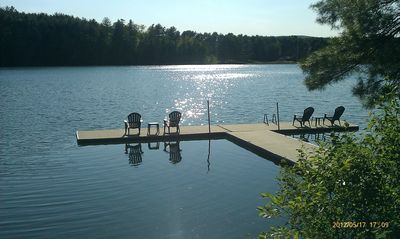 Enjoy the lake on our private dock!