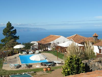 Photo for Rural Finca Los Lirios with 2 houses for 8p with pool and views in Taucho Adeje