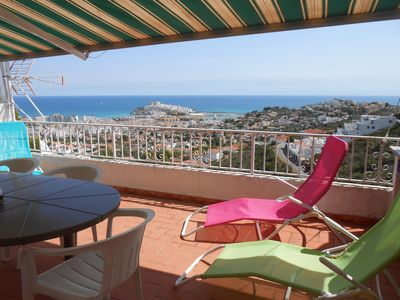Photo for APARTMENT large terrace overlooking the sea and castle