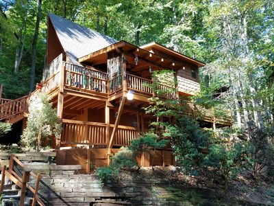 Photo for Amazing Cozy Mountain Chalet -2 miles G'burg & GSMNPark-WIFI - Pets OK-Sleeps 6+