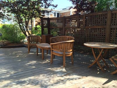 Beautiful Common Area Deck with Gardens & Seating