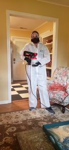 Melissa or Tall Kevin disinfect all of our Beaufort properties between guests!