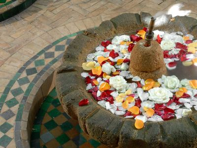 Photo for Authentic riad with hamamm massage room, terrace, sunbathing,