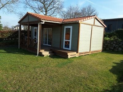 Photo for CHALET 4 people in camping yellow village 5 stars near Granville