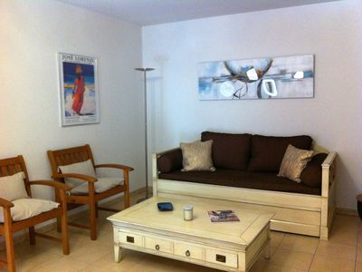 Photo for T3 80m2, 4P, air-conditioned, wifi, garage, terrace, beach and shops at 2 mn