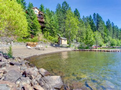Photo for Dog-friendly, stunning bay front home with a private dock!