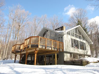 Photo for SUMMER OR WINTER GREAT HOUSE, MINUTES TO MOUNTAIN, HOT TUB, REASONABLE RATES