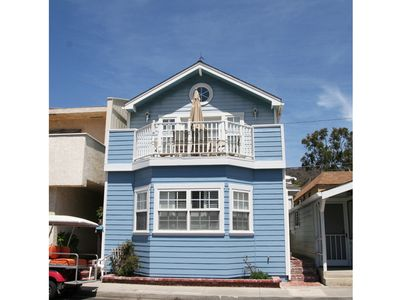 Photo for Large Two Story Home, 1 Block from the Beach, Fireplace, Hillside Views