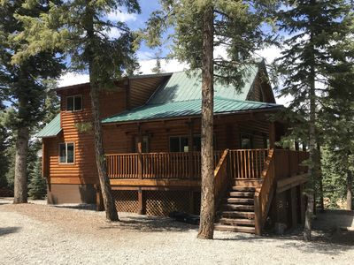 Photo for Beautiful cabin retreat nestled in the pines on one acre
