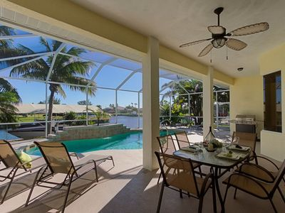 Photo for Beautiful holiday villa in SW Cape Coral on the canal with sea access.