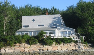 Bar Harbor View Cottage faces east toward Cadillac Mountain and Western Bay