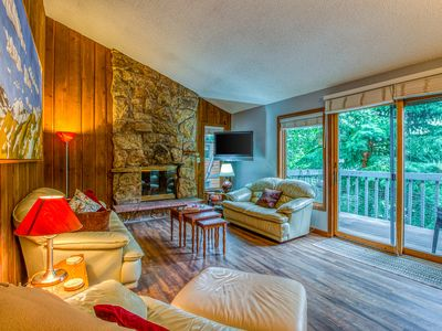 Photo for Cozy condo w/ wooded surroundings, shared pool, & mountain/valley views!