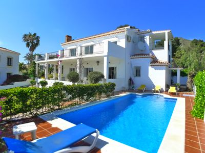 Photo for Luxury air conditioned villa with free WiFi, private pool & delightful gardens