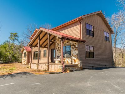Photo for Luxury cabin 10 minutes to Helen! Hot Tub, Sauna, Fireplaces!! ALL PAVED ACCESS!