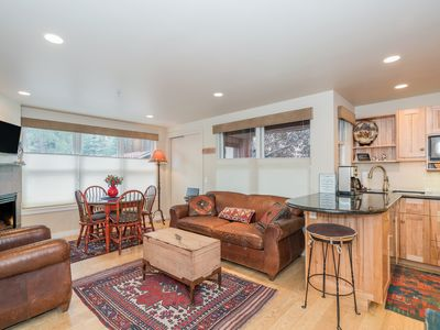 Photo for Luxury Condo 1 Block from Telluride Gondola-Private Hot Tub and Fireplace