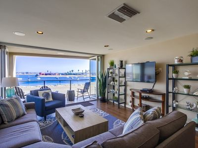 Photo for ☀️ WATERFRONT Luxury ⛱ Central AC, Private Rooftop, 2 Parking & Grill!