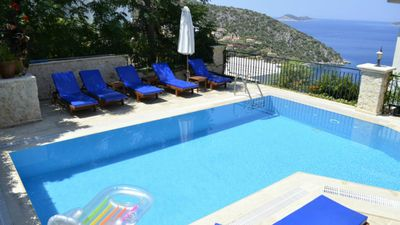 Photo for Villa In Kisla,Kalkan, VERY PRIVATE POOL. Stunning Sea Views, above Villa Mahal