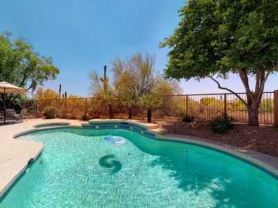 Photo for Beautiful, modern Scottsdale home w/ a private, heated pool, pool spa, & views
