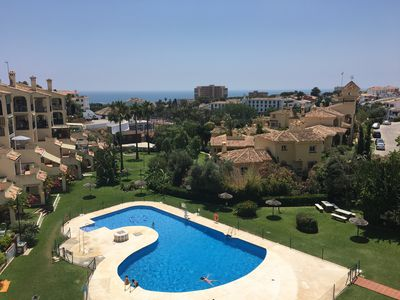 Photo for Apt Costa del sol, sea, pool and walking distance to the beach