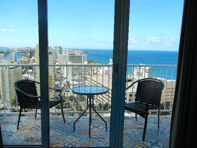 Photo for Luxurious 22nd FL. BALCONY!  BEACH VIEW ! POOL ! FREE PARKING & INTERNE ACCESS