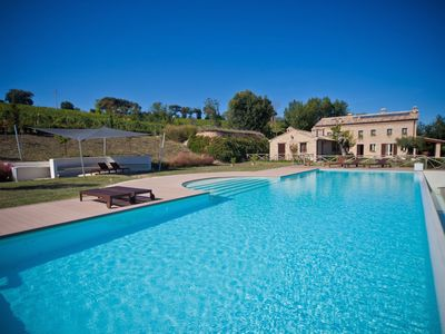 Photo for Relax and swim in the Marche hills 10min from the sea