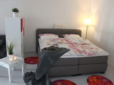 Photo for Modern terrace apartment with sea views including Wi-Fi in Travemünde, App. flamingo