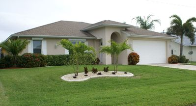 Photo for Villa Rubicon - SE Cape Coral 3b/2ba Electric Heated Pool, Gulf Access Canal, HSW Internet
